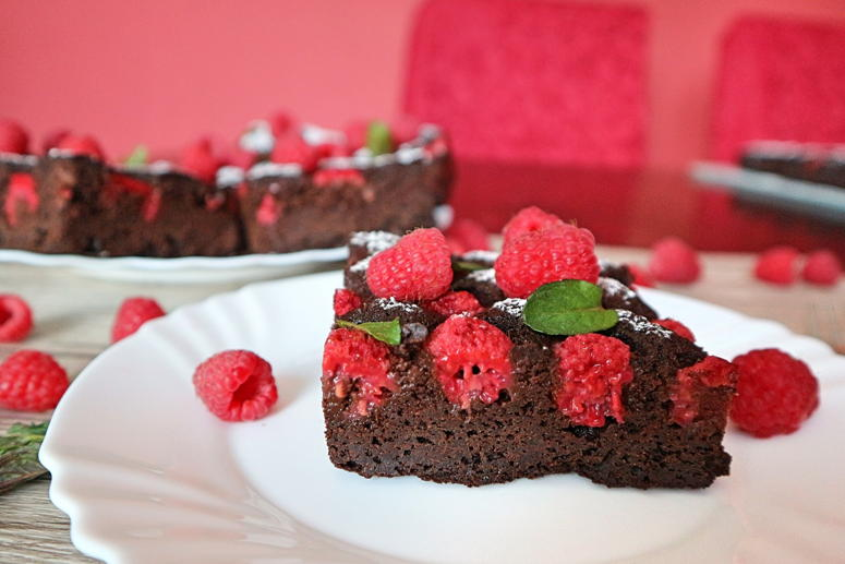 Saftige Himbeer-Brownies