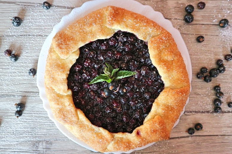 Beeren Galette backen