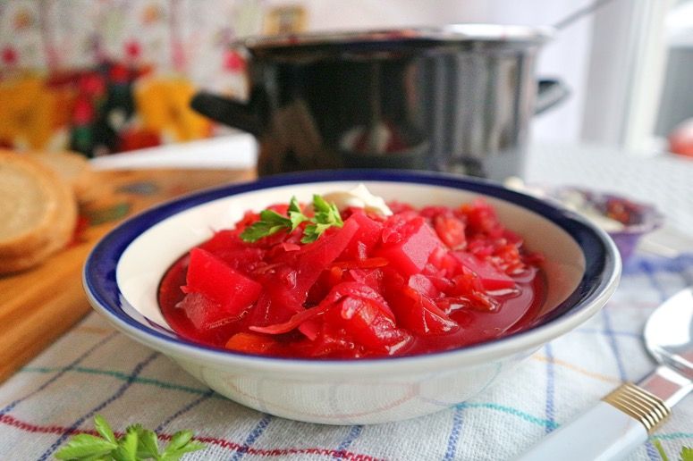Russische Rote-Bete-Suppe vegan