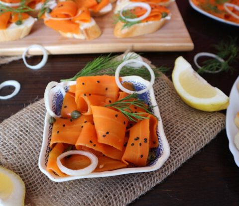 How to make carrot lox – vegan smoked salmon recipe