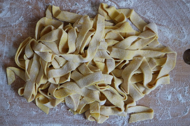 Homemade noodles without egg